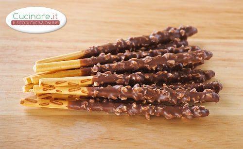 Grissini ricoperti con Cioccolato, Nutella e Nocciole