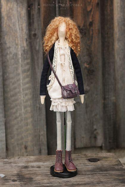 Куклы Тильды ручной работы. Ярмарка Мастеров - ручная работа Бохо-растрепуха — портретная текстильная кукла. Handmade.