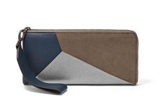 Hanne Leather L-Zip Clutch - Tricolor