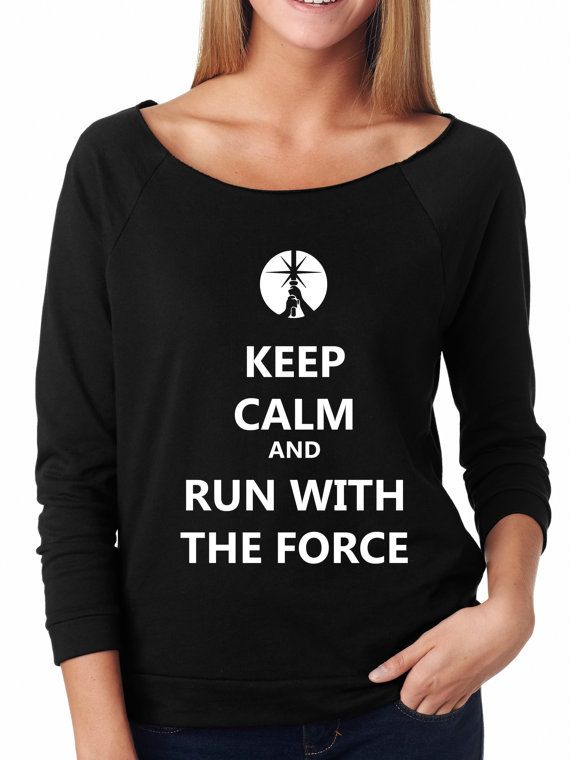 Keep Calm and Run With The Force Star Wars Half by FitGirlClothing
