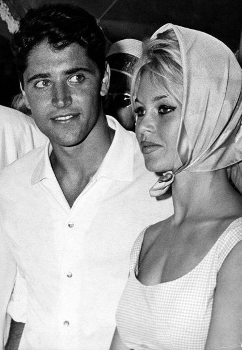 Sacha Distel and Brigitte Bardot