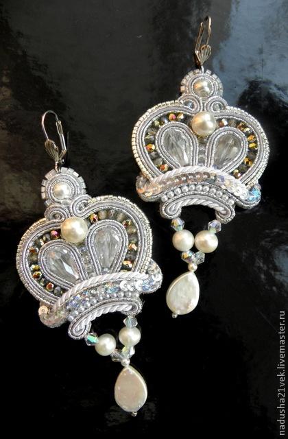 Earrings 'Crown of the Snow Queen' by Kovaleva Nadezda