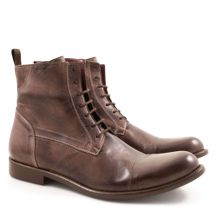 Lace-ups plain cap toe derby boots Made in Italy - Italian Boutique €304