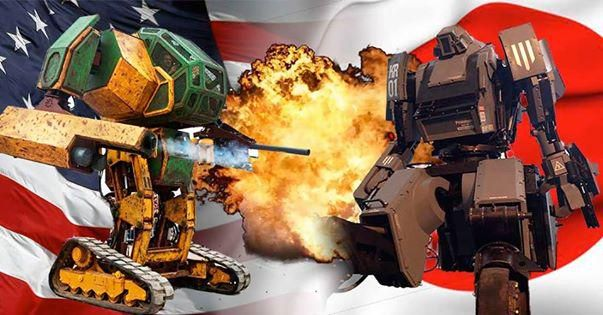 it's Gundam time robot vs robot Massive 'Battle Bot' Gears Up for Robot Duel. Megabots,