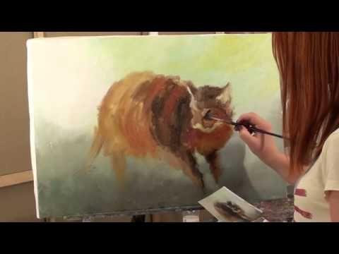 Живопись. painting.Видео и онлайн уроки.Лошадь, волны - YouTube