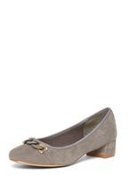 Womens Grey 'Dexter' Chain Court Shoes- Grey