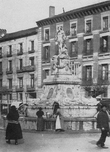 Antigua imagen Fuente Neptuno.MADRID