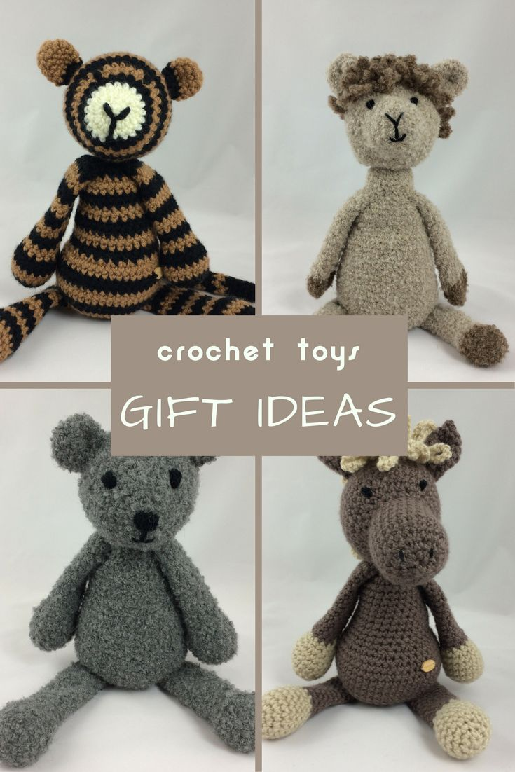 Crochet Animal Soft Toys - perfect idea for soft and cuddly gift!