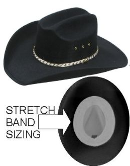 """Black Felt Summit"" Gold band Toddler, Child Cowboy Hat - Comes in 2 sizes! small for 6-24 months :) @Caitlin Kersey"
