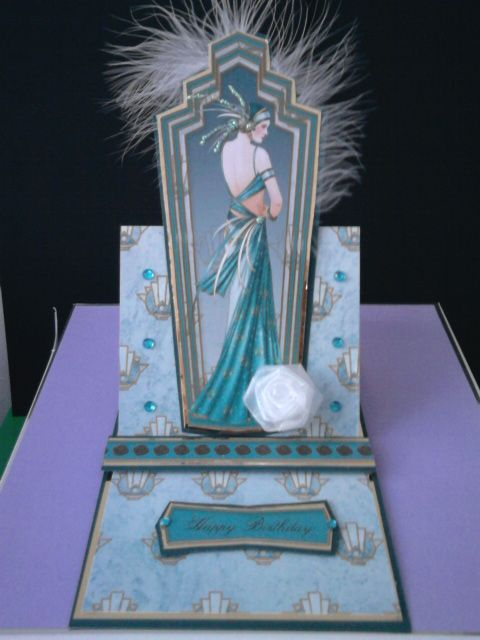 lovely art deco card from debbie moore cd