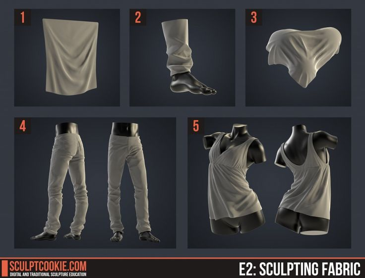 【参考資料】『Sculpting Fabric』by SCULPT COOKIEで、布地に表れるシワの法則性を学ぶ!