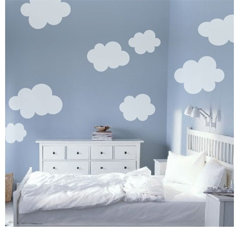 Cloud wall stickers, would use for super cute kids room!