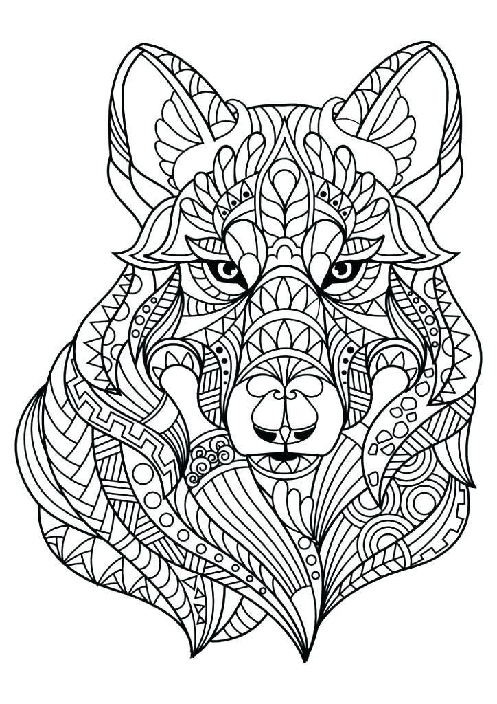 Dog Mandala Coloring Pages Animal Mandala Coloring Pages ...
