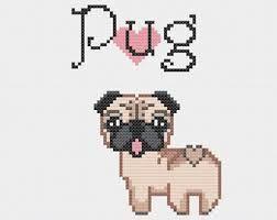pug cross stitch pattern ile ilgili görsel sonucu
