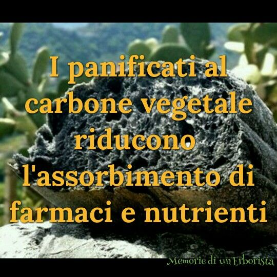 Pane e pizza al carbone vegetale