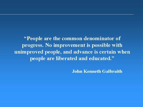 Keynesian John Kenneth Galbraith