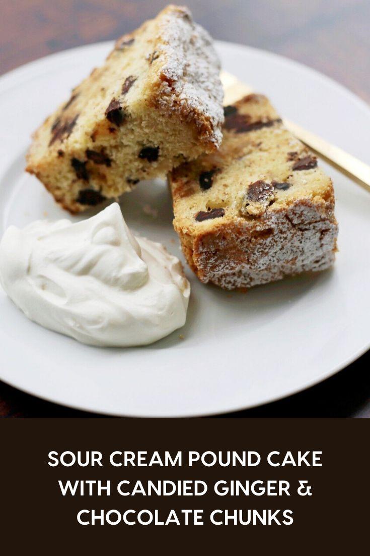 chocolate sour cream pound cake loaf
