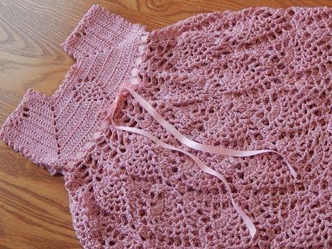 Vestido para niña de 1 a 2 años, tejido con hilo, la blusa y falda esta tejido con piñas y tiene dos opciones para el largo que quieras. Para una niña de 6 m...