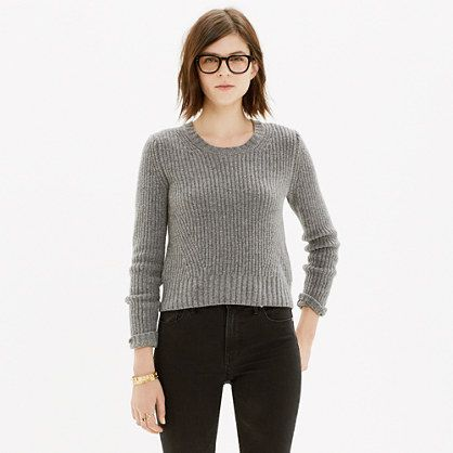 Madewell - Crop Pullover in Vintage Mauve
