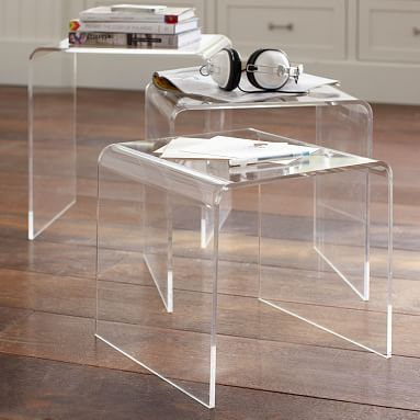 Acrylic Nesting Tables from pbteen - cheaper than cb2