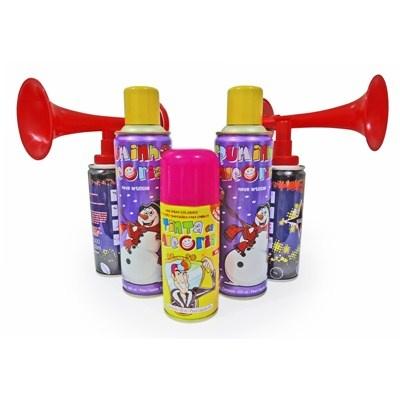 Kit Carnaval Spray Neve Artificial Espuminha Super Buzina e Tinta da Alegria R$28.50.