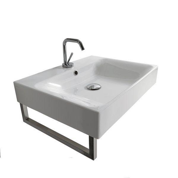 Cento Ceramic Ceramic Square Vessel Bathroom Sink Ws Bath Collections Sink Bathroom Sink