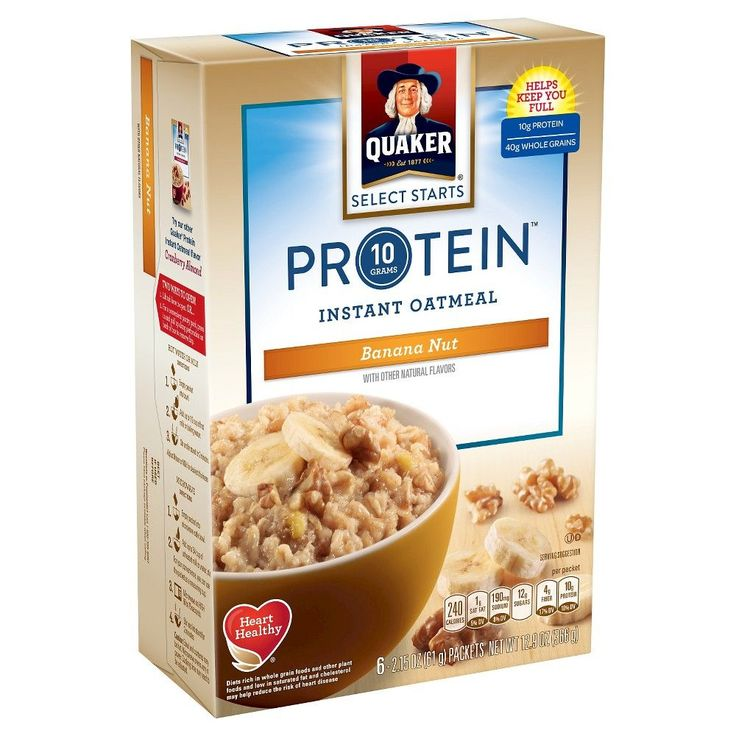 Quaker Instant Oatmeal Protein Banana Nut 6 ct