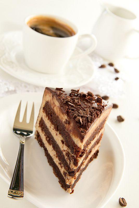 Шоколадный торт-брауни с каштановым кремом