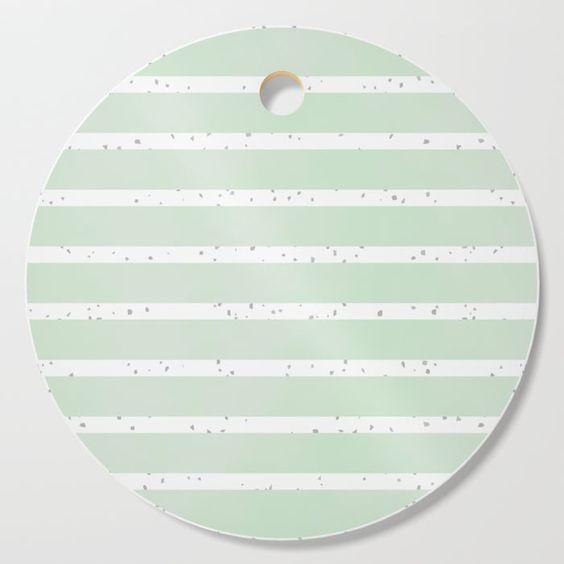 'mint candy || stripes & terrazzo' Cutting Board ||| #tabletop #kitchen ...