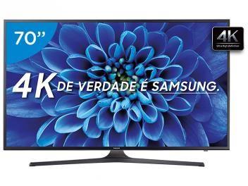 """Smart TV LED 70"""" Samsung 4K/Ultra HD 70KU6000 - Conversor Digital Wi-Fi 3 HDMI 2 USB"""