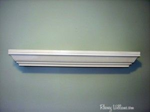 How to make a crown molding shelf for your nursery