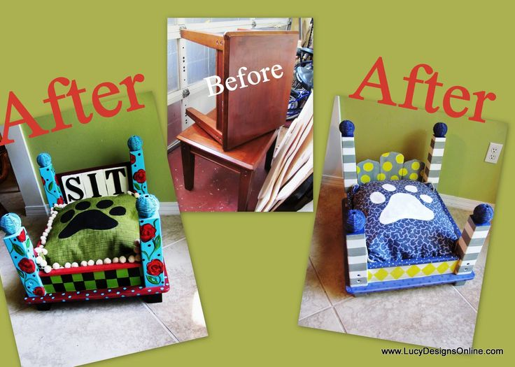Dog Bed from an End Table....i WILL do this!!!