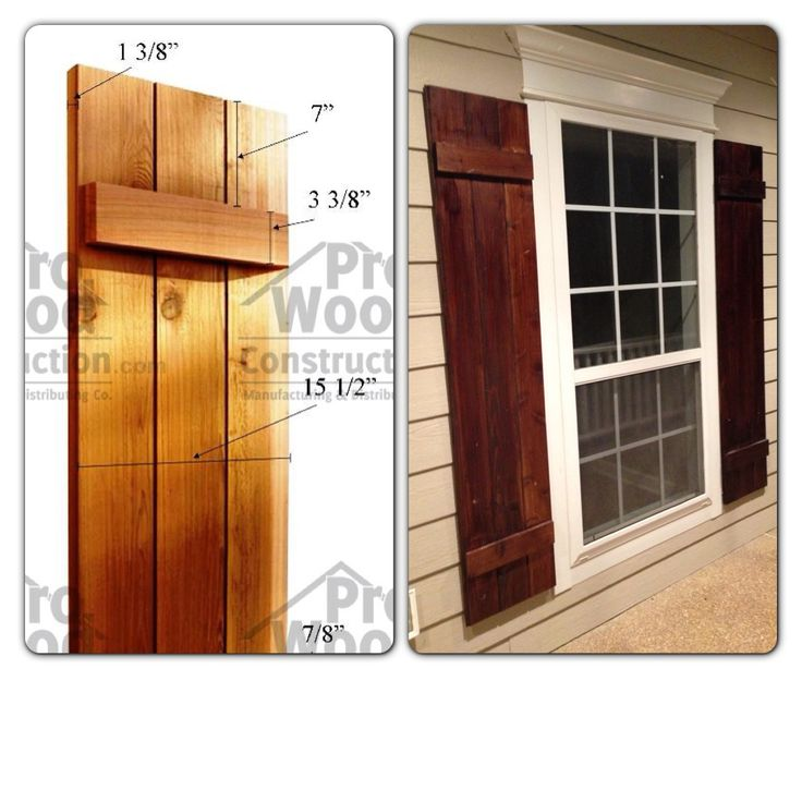 "Shutter Success!! We used the 5"" cedar tongue and groove and one coat of stain/polyurethane combo product"