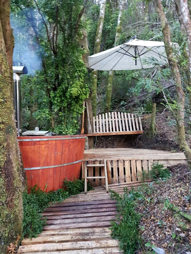 The hot tub on the island!   Isla San Pedro, Sirena de Chiloe Chilean vodka. Chile, Santiago, Quellon, papas, mermaid, Chilean, potato http://sirenadechiloe.cl/