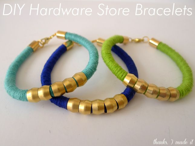 Thanks, I Made It: DIY Hardware Store Bracelets: Diy Ideas, Hardware Stores, Diybracelet, Hardware Bracelets, Diy Jewelry, Stores Bracelets, Diy Bracelets, Diy Hardware, Jewelry Ideas