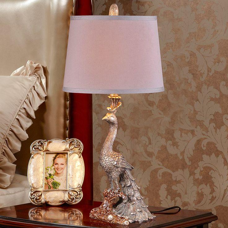 Павлин Комплекс Классическая настольная лампа, Украшение Дома современная спальня свет ткань настольные лампы для Гостиной Спальня читальный зал купить на AliExpress