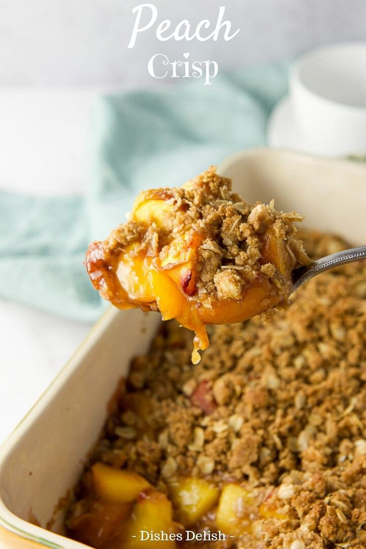 Jul 1, 2020 – This peach crisp recipe is perfect when peaches are in season. There is nothing like a plateful of this sl…