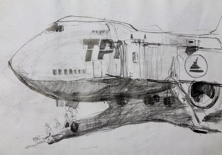 Титенков Владислав. Набросок Аэропорт. А5. 2012 Titenkov Vladislav. Sketch of a Airport. А5. 2012