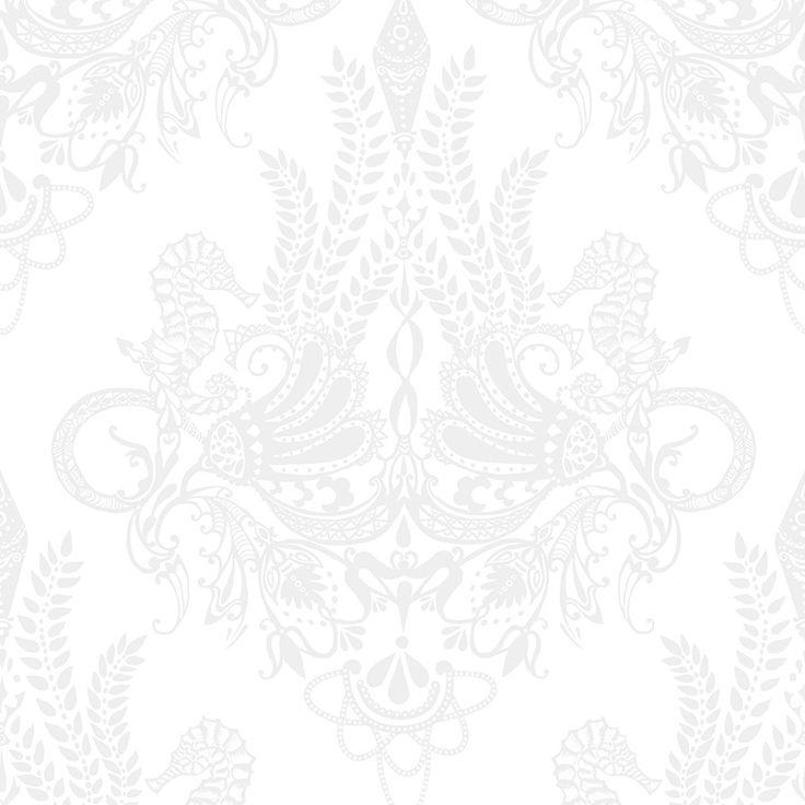 Syvämeri white by Matleena Issakainen - Wallpapers / Tapetit