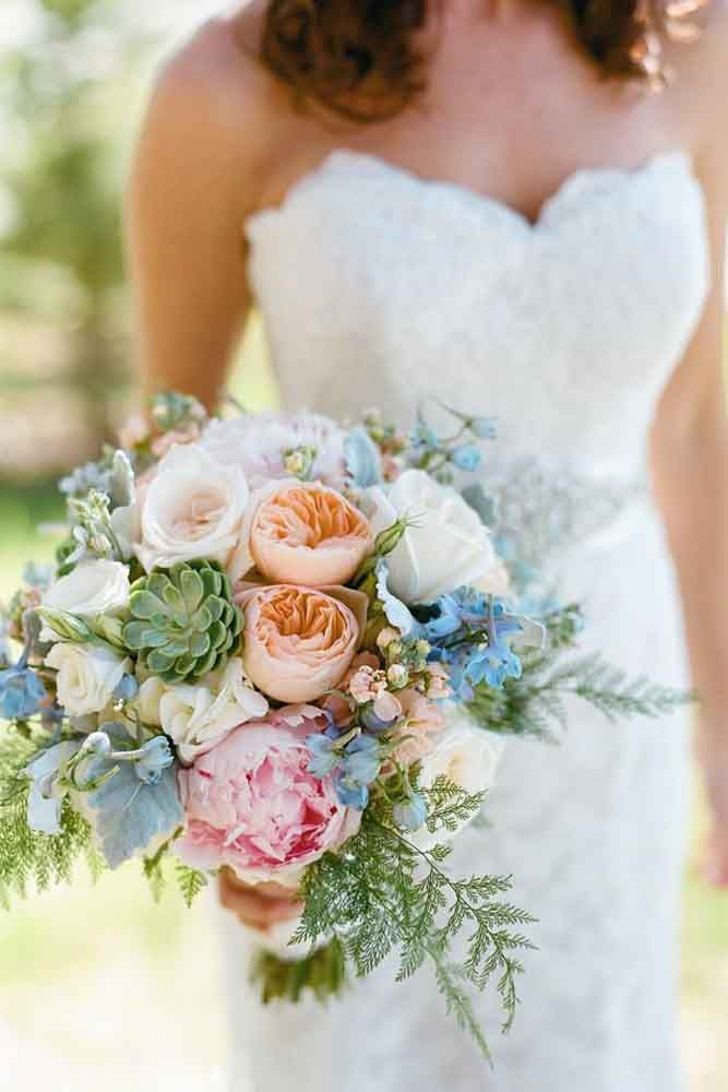 24 Purple And Blue Wedding Bouquets ❤ See more: http://www.weddingforward.com/purple-blue-wedding-bouquets/