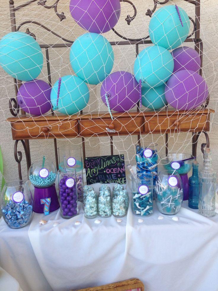 Little Mermaid Candy Bar Little Mermaid Party