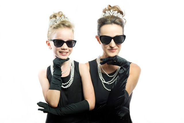 Holly Golightly Mother-Daughter Halloween Costumes