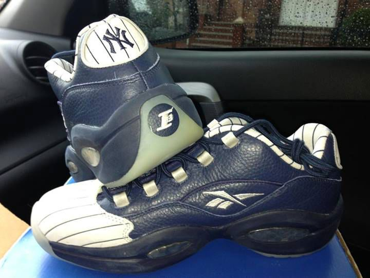 Reebok Question Low New York Yankees Away Reebok Gym Shoes Shoe Collection