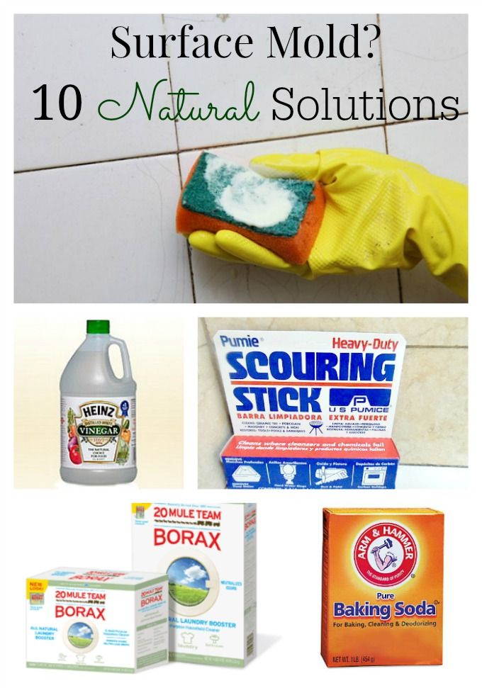 Bleach is not the best option when removing surface mold. Find out why and consider these natural alternatives!