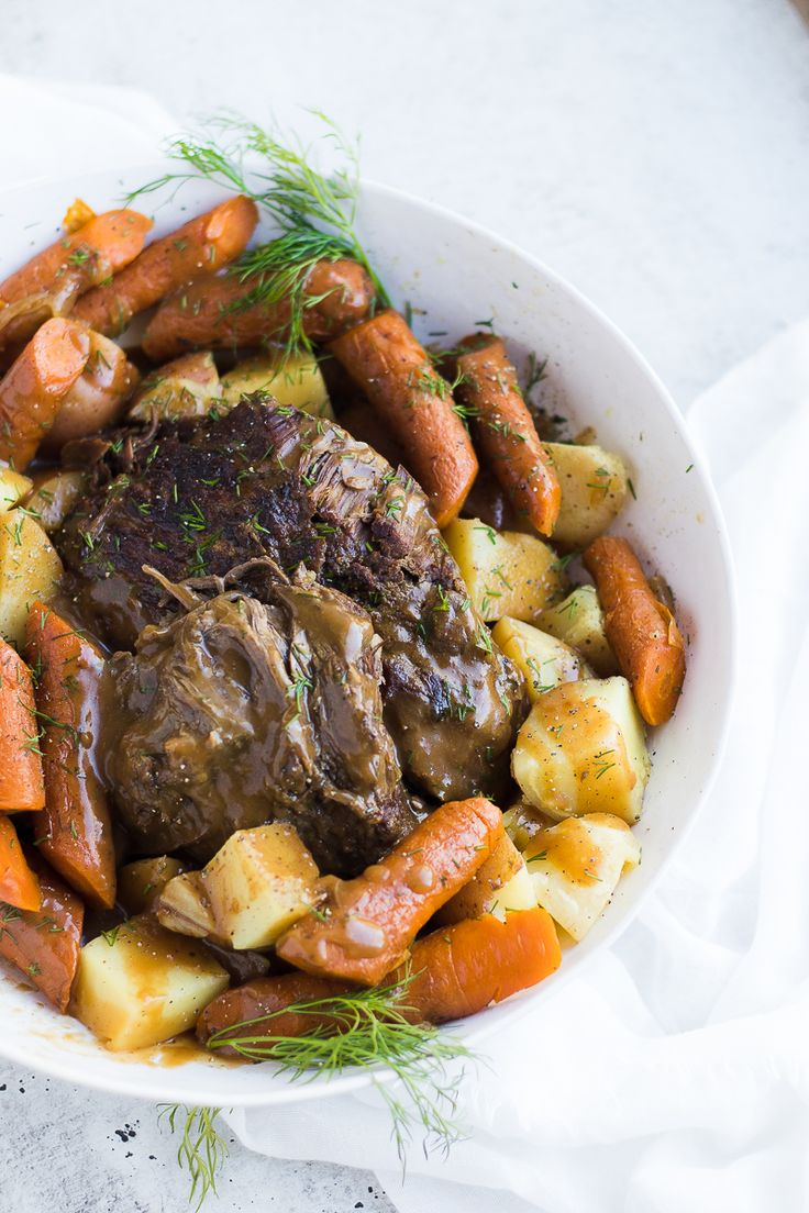 Pressure Cooker {Frozen} Roast Beef and Potatoes. SKip the soup mix! And use real seasonings