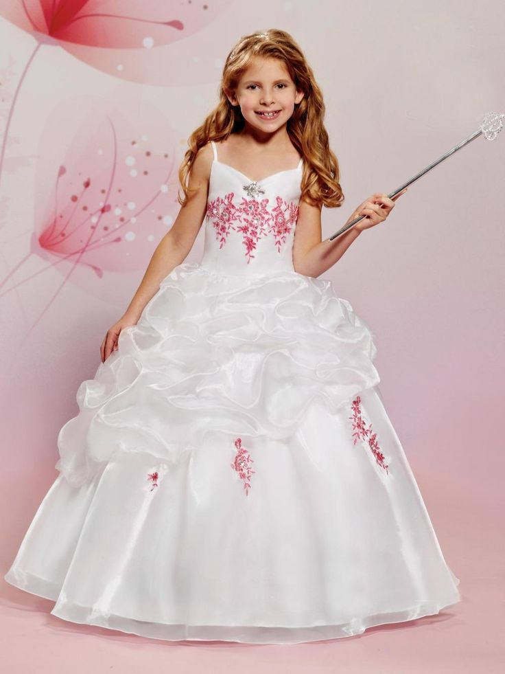 Vintage Organza Flower Girl Dresses For Weddings Ball Gown 2016 Cheap White V Neck Crystal Kids Beauty Pageant Dresses Toddler Party Dresses Baby Easter Dresses From Imonolisa, $89.53| Dhgate.Com