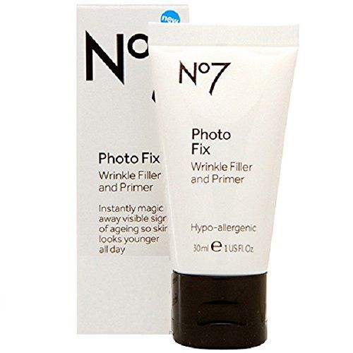 Reduces the appearance of the signs of aging instantly. Try it for yourself: BOOTS No7 Photo Fix Wrinkle Filler & Primer, $23
