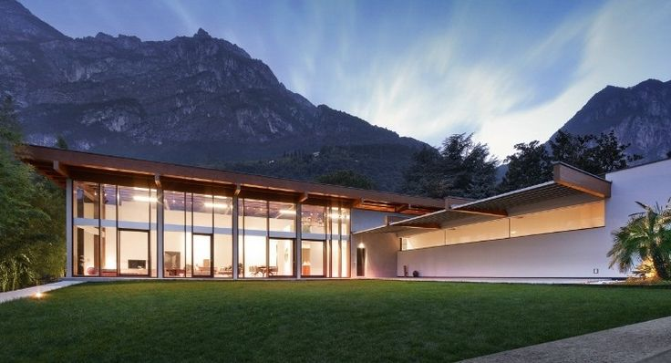 Luxurious property designed in 2006 by Italian architects Gianni Calzà and Emanuele Genuizzi located in Riva Del Garda.