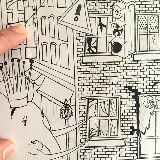 """mikainstagram """"Morning of drawing for new project with Swatch. Here is a sneak preview"""" March 28 2015"""