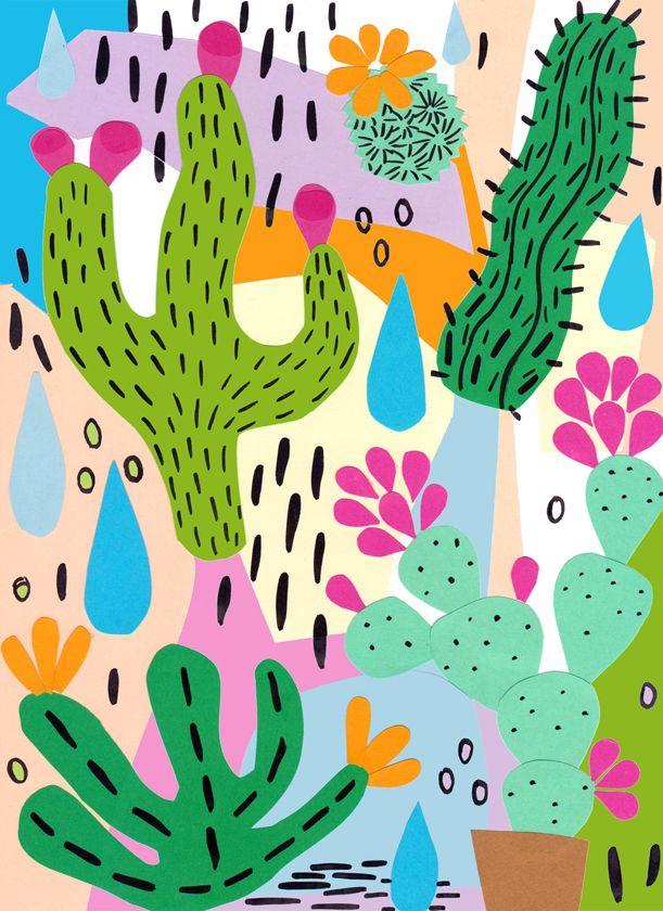 Cactus illustration by Dora Szentmihalyi Más